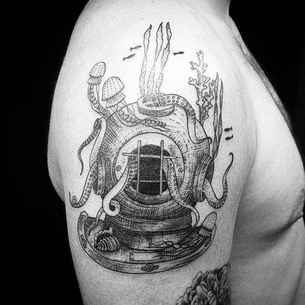 #tattoofriday - Nando Zevê, Brasil. #tattoo #tatuagem #blackwork #blackline