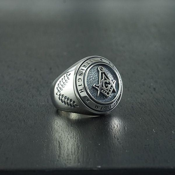 masonic ring freemason eye of providence silver 925 handmade