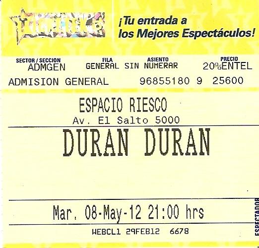 Duran Duran - Live in Santiago, Chile 08-05-2012