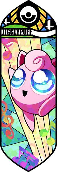 Fan art Pokémon en vitrail - rondoudou
