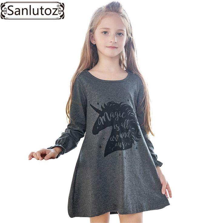 Sanlutoz/Детское платье для девочек мультфильм Обувь для девочек платье Единорог детей Костюмы Зимние Симпатичные малышей 2017 модный бренд Детский костюм для вечеринок купить на AliExpress