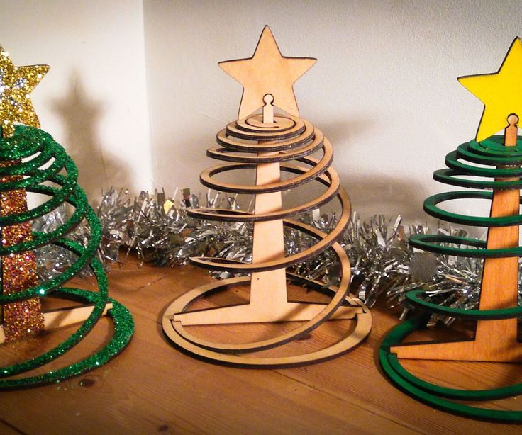 A quick wooden Christmas decoration that will pack away flat for next year.**It stands 20cm high and the base is 14cm diameter I've been looking at some different cut patterns for flexible plywood (Living hinges, Super flexible double curvature surface, Curved laser bent wood), and coming up with my own. Along the way I stumbled across a three ingredient challenge here and got wondering what I could make in 3d that used no more than three flat pieces of plywood. And seen as it's nearly…