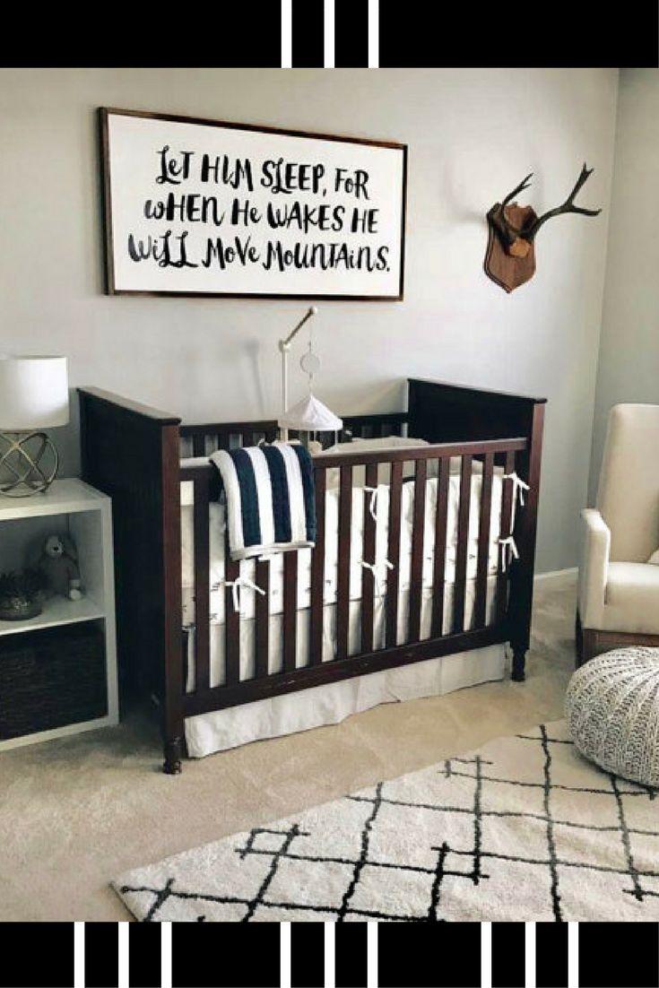 baby boy nursery black and white nursery decor