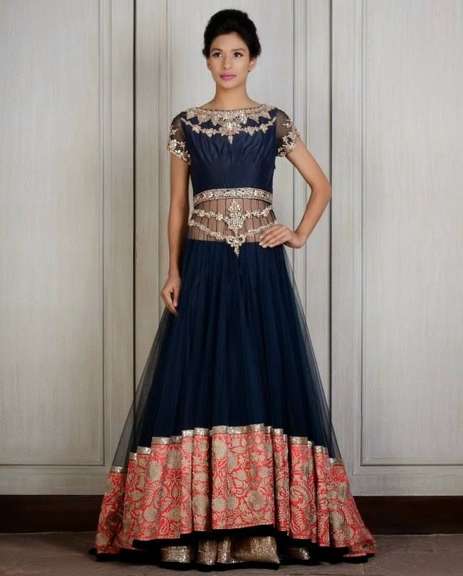 dark blue lengha