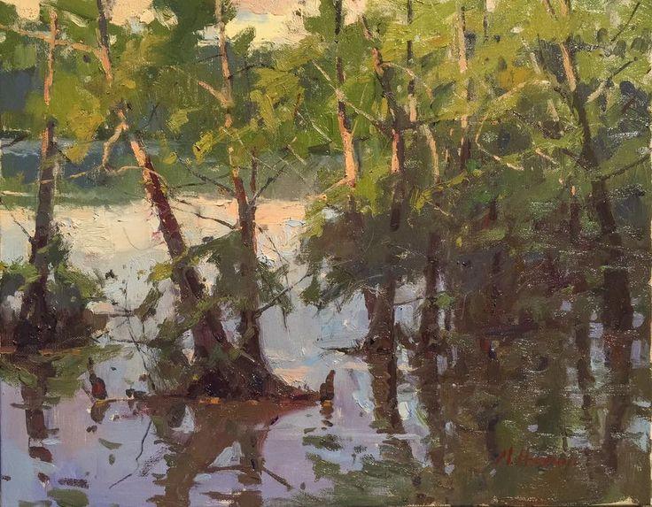 Marc R Hanson Quot Light Across The Boughs Quot Oil On Canvas