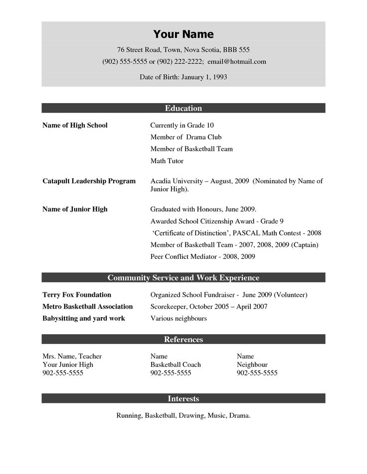 Free Resume Samples Download | Sample Resume And Free Resume Templates