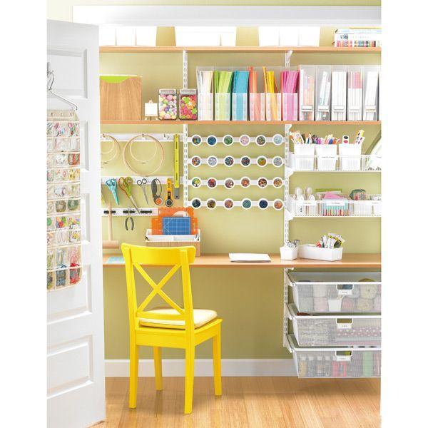 56 best elfa shelving office images on pinterest elfa shelving home office and cubicles - Container store home office ...