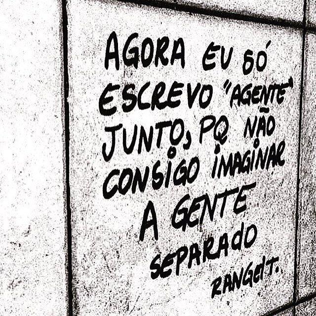 Bom dia a todos com poesia nas ruas por @rangeltrindade