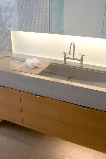 Cast-in-place concrete sinks, each poured for a unique installation