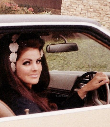 Priscilla Presley photographed by a fan outside her home, Beverly Hills, CA, June 27, 1968.
