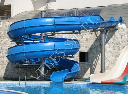 Водные горки компании Велес. Тобогган, Бодислайд - горка с индивидуальным скольжением. http://veles-sib.ru