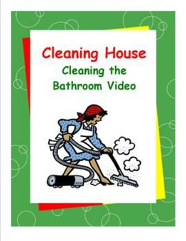 """The Cleaning the Bathroom Video is part of Susan Traughs Daily Living Skills series offering transitional skills for mild-to-moderately affected special needs students and general education students alike. This video was created to accompany the """"Cleaning House"""" workbook."""