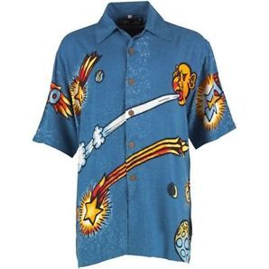 MAMBO LOUD LAIRY MENS SHIRT - HIPPY - LARGE- Great for holiday beach