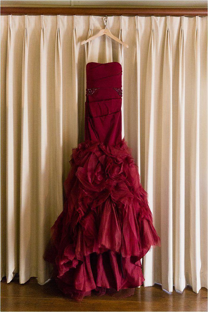 #marsala #coloroftheyear Vera Wang red wedding dress | Emilia Jane Photography | south africa wedding