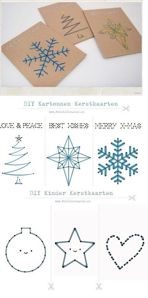 Geweldige sjablonen om zelf Kerstkaarten mee te maken, maar ook prima geschikt voor kinderen.