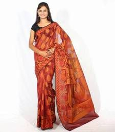 Buy Organza cotton fancy banarasi saree organza-saree online
