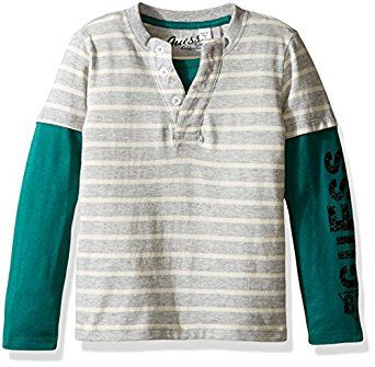 GUESS Little Boys' Long Sleeve Two-Fer Henl... by GUESS for $26.00 http://amzn.to/2hgrYsy