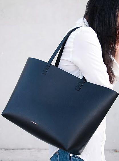 Obsessed over this black Mansur Gavriel bag. #shopstyle More