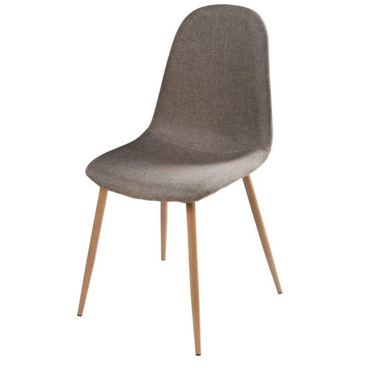 Stuhl aus grauem Stoff - Clyde