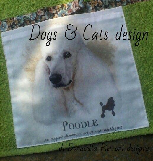 1418 - Particolare della tovaglietta. Pezzo unico. Dogs & Cats design di Donatella Pietroni designer
