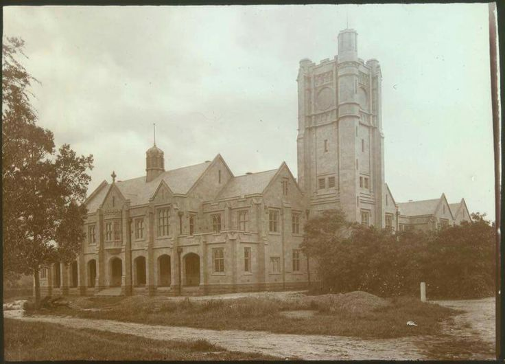 The Arts Building at Melbourne University in 1875.