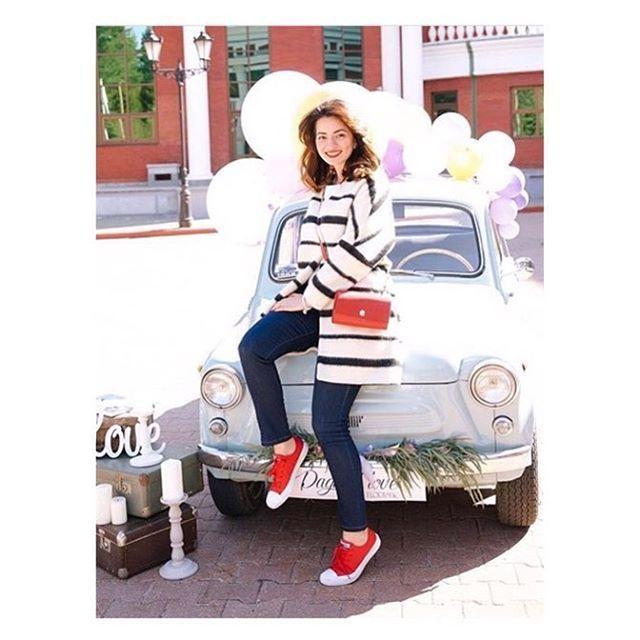 Всем хорошего настроения и ЛЮБВИ Друзья! ❤️ Photo via @ankaxuliganka ........................ >  #GoodUnion #redbag #сумкабардачок #NIM_design & @ankaxuliganka #путешествия #travel #leatherbag #russiandesigner #style #fashion #fashionstyle #blogger #fashionblogger #madeinmoscow