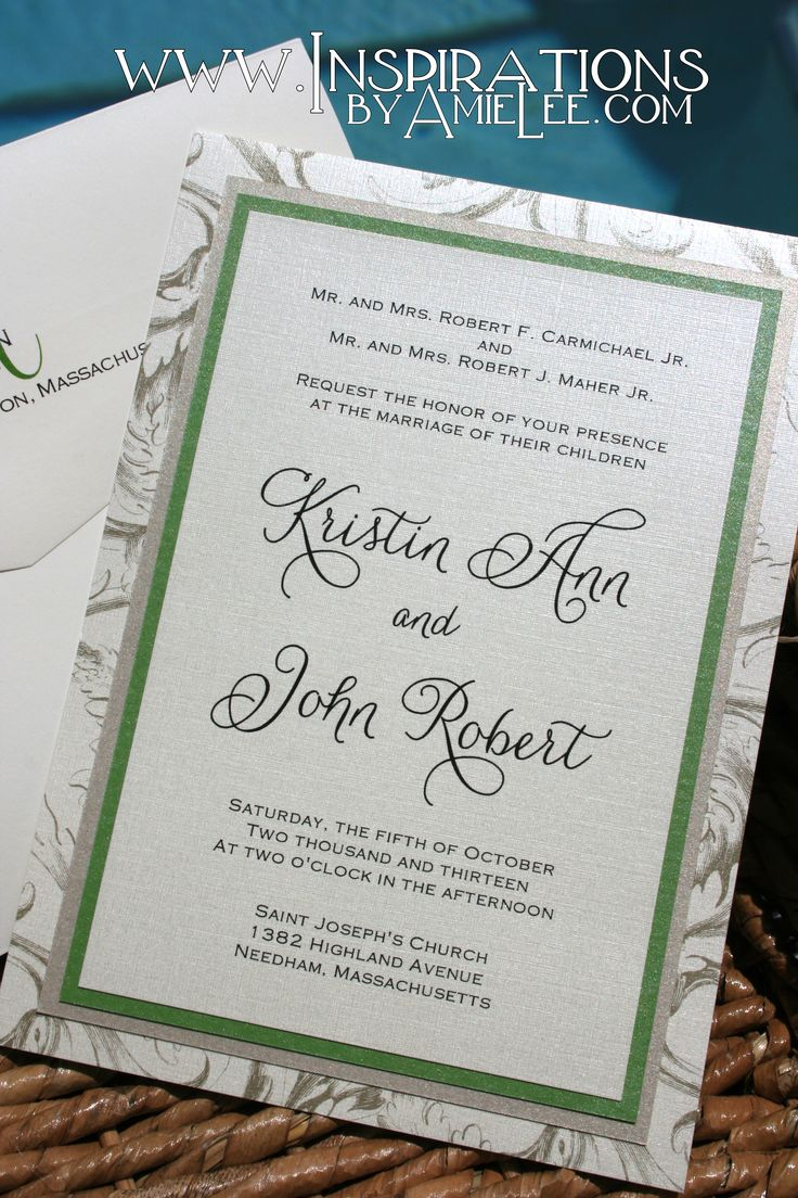how to address couples on wedding invitations%0A Classic Wedding Invitations