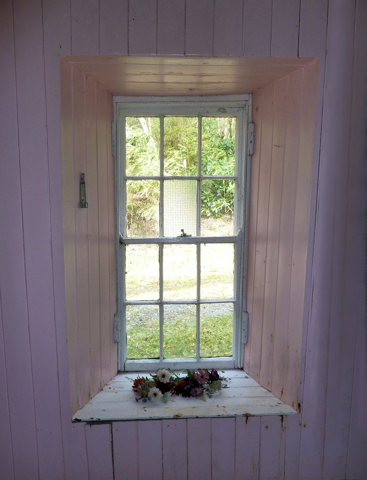 The window that looks out onto the stable yard of Eliza's house, as it is today. Another Heartbeat in the House