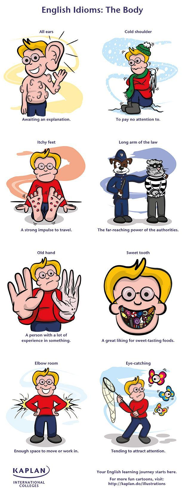 EwR.Poster #English 8 Creepy Body Idioms You Can't Speak Without - repinned by @PediaStaff – Please Visit ht.ly/63sNt for all our ped therapy, school & special ed pins