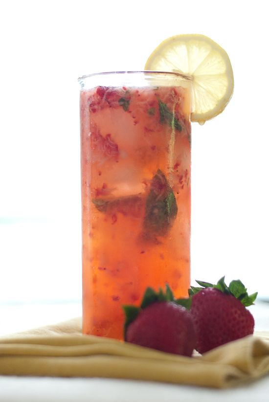 Strawberries, Cocktails and Basil on Pinterest