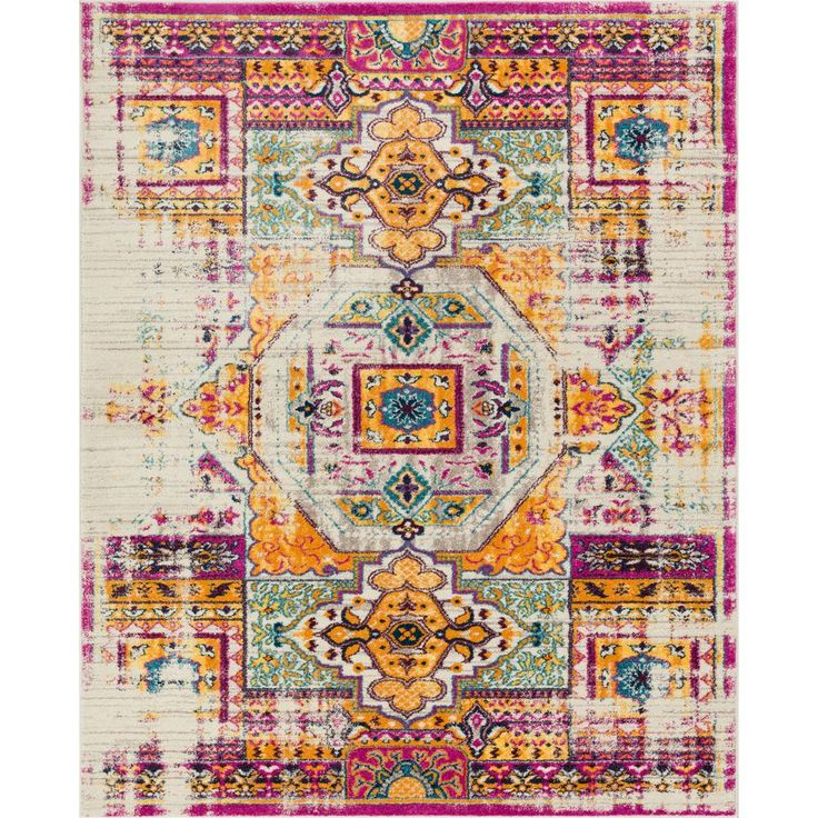 Laurent Celestia Brown 7 ft. 10 in. x 9 ft. 10 in. Boho Over-Dyed Vintage Modern Area Rug