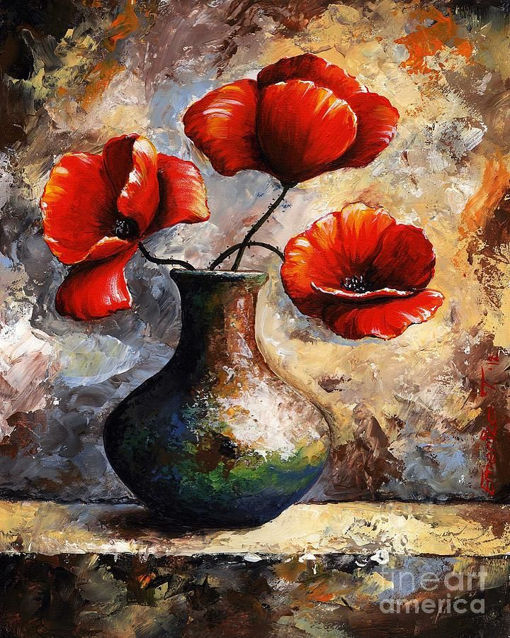 Red Poppies by Emerico Imre Toth