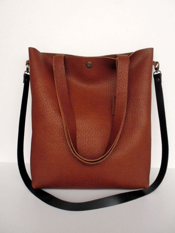 Brown Leather Tote Bag - Soft Brown Leather Travel Bag - Leather Market bag-leather tote-leather tote bag