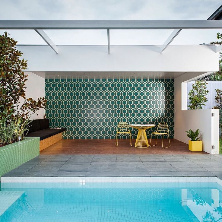 @dangayferdesign Chose To Be Bold With The Brighton Loggia By Choosing  Colorful #mosaic Tiles