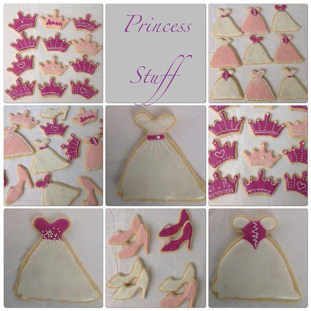 Royal Icing Cookien. Princess Style.  Печенья, покрытые сахарной глазурью. Стиль принцессы.