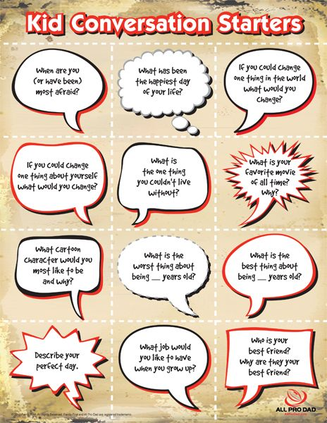 not that my kids need more help talking... but I LOVE this idea. could be free write starters too