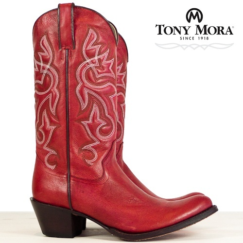 Rode Cowboylaarzen. Tony Mora #laarzen