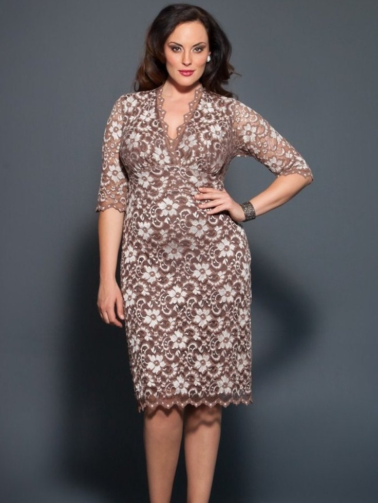 The plus size Scalloped Boudior Lace Dress by Kiyonna is BACK at lucyclothing.ca ! STUNNING!