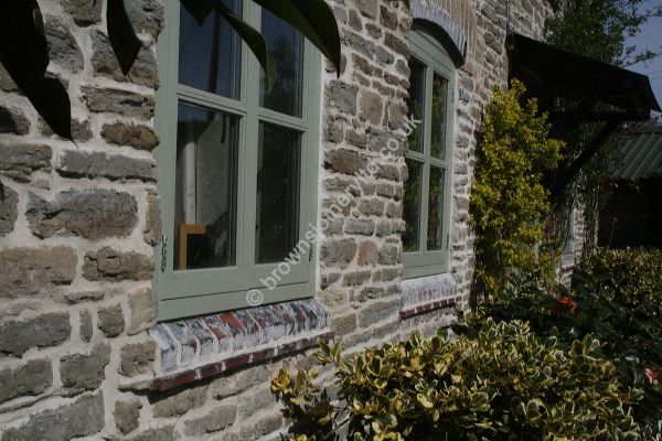 Painted Hardwood Cottage Style Windows by www.brownsjoineryltd.co.uk