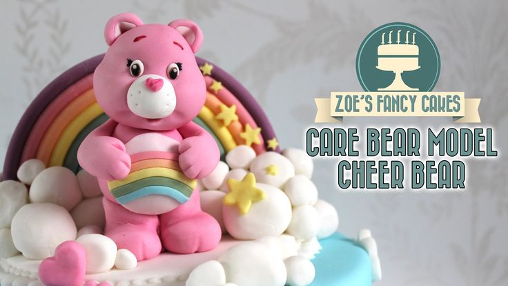 Fondant Care bear model pink Cheer Bear cake topper In this modelling tutorial I show you how to make a Cheer bear (care bear) model to use as a cake topper ...
