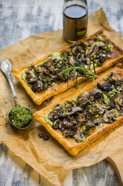 Tarty z pieczarkami i mascarpone/Mushroom & mascarpone tarts
