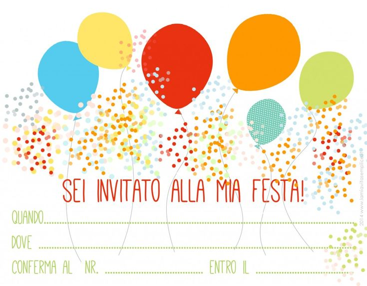 Inviti per compleanno, da stampare gratis - La mia vita semplice