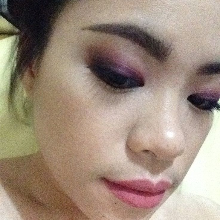Purple and Pink haze eyes with Matte Nude Pink lips. Glam Grunge meets Dainty
