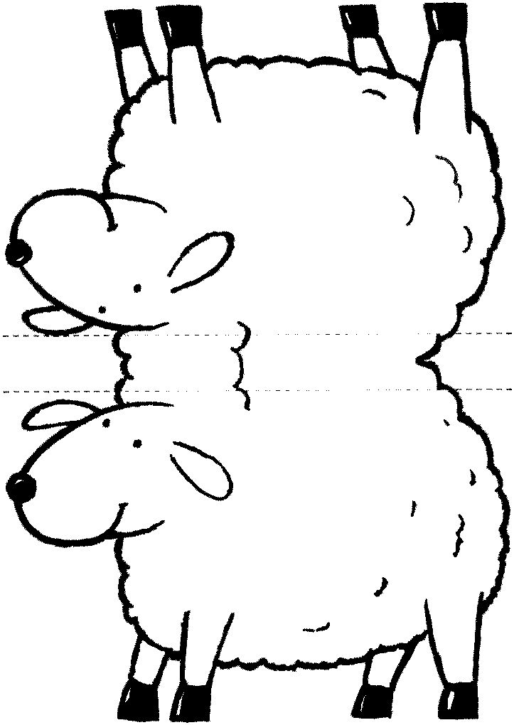 Epic image for sheep craft printable