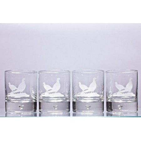 Set of 4 matching Pheasant glass tumblers - £29.99