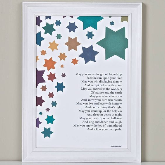 Wishes For A Child Christening Poem Print