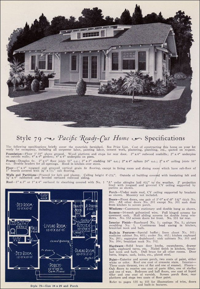 Design No. 79  from Pacific's Book of Homes — Pacific Ready Built Homes