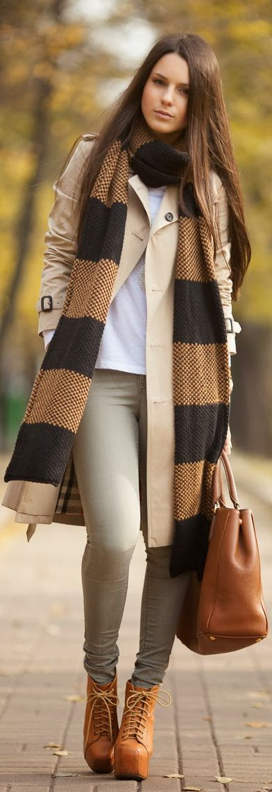 Outfit Of The Day: Long Knitted Scarf