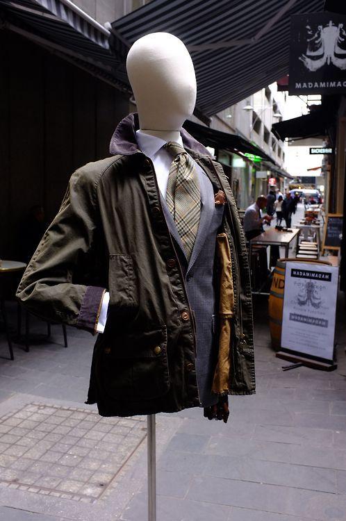 Barbour Grassdale Cotton Coat #menswear #mensfashion