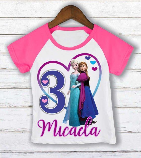 Birthday Girl Princess Elsa Six Birthday Shirt Birthday Girl Raglan Sixth Birthday Shirt Personalized Shirt Frozen Birthday Outfit